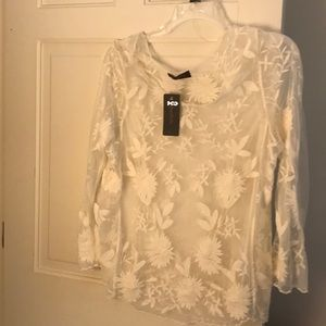 Ivory Annabelle lace tunic 1X. New